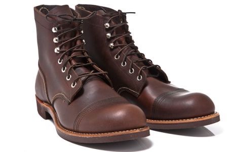 """Red Wing Shoes 6"""" Iron Ranger 8111-Amber Harness"""