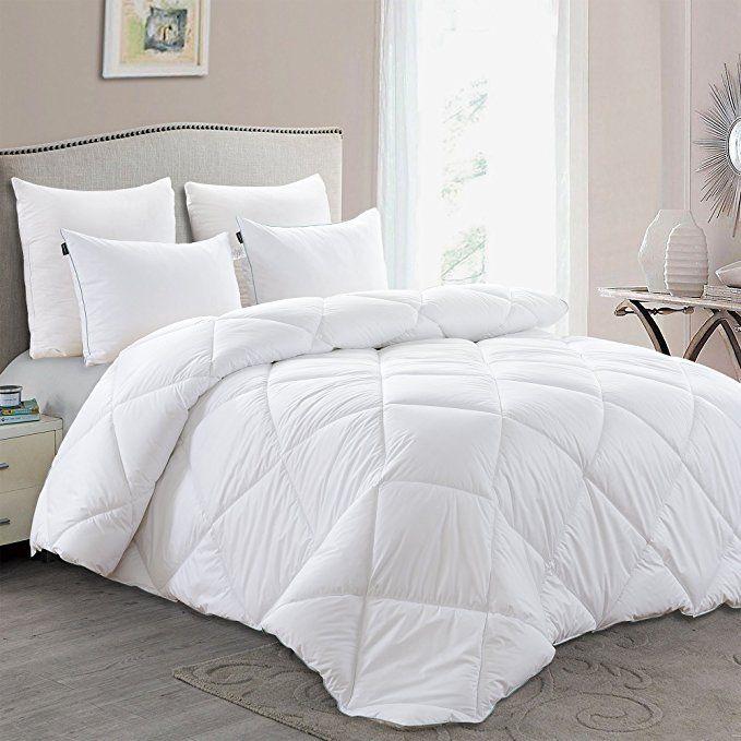 Basic Beyond Lightweight Down Comforter Queen Luxury Down Duvet Insert With Super Soft Shell Hotel Quality Comf Down Comforter Comforters Duvet Comforters