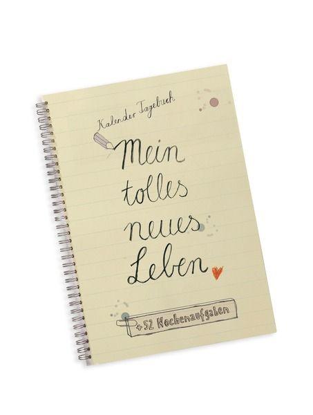 Kalender: Mein tolles neues Leben, mit 52 Aufgaben von EINE DER GUTEN - Bücher für ein tolleres Leben auf DaWanda.com