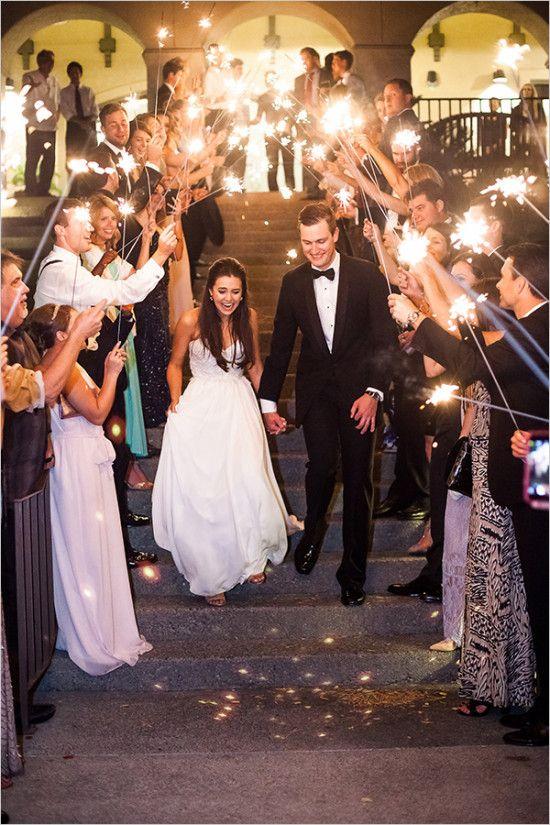 sparkler exit @weddingchicks