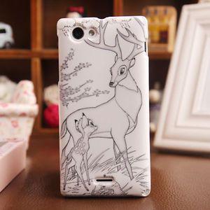 Accessoire Deer Gel Housse Etui Coque Silicone Case Pour Sony Xperia J ST26i