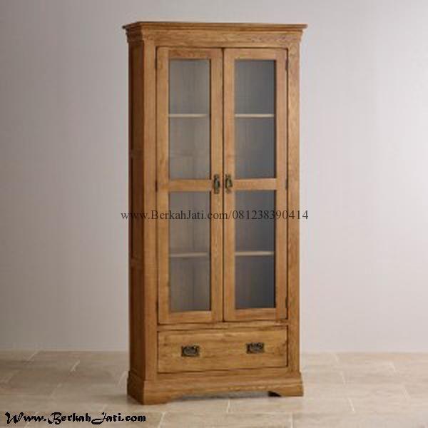 Lemari Rak Buku Minimalis Pintu 2 Merupakan produk Mebel Berkah Jati Jepara dengan desain Minimalis Bahan kayu Jati Solid Lemari Buku Simple Minimalis Pintu