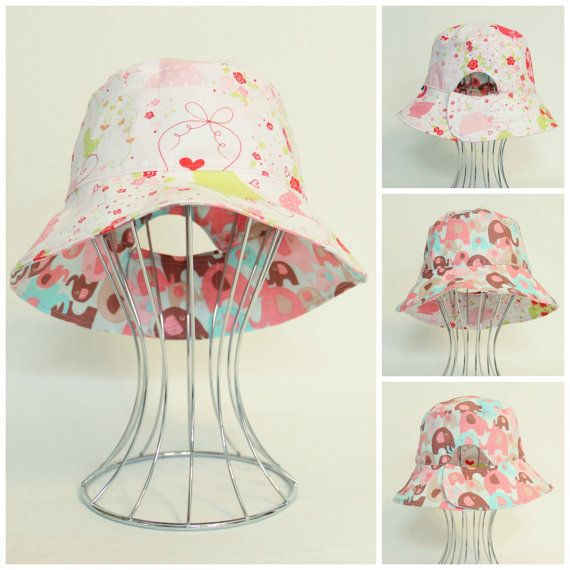 Reversible Adjustable Childs Bucket Hat  by OneCrazyMumma on Etsy