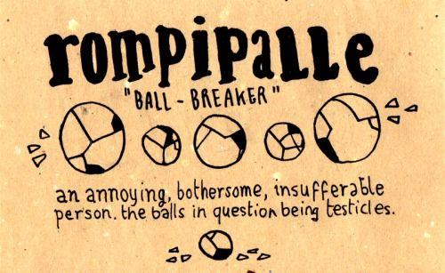 Learning Italian Language ~  Rompipalle