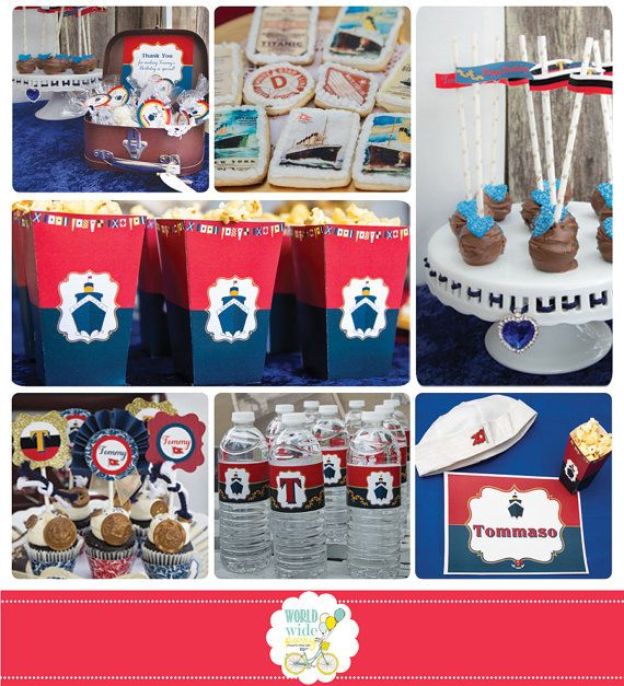 Someone I know would go CRAZY! Titanic Party Collection  Printable Party  PDF by worldwideparty, $32.00.