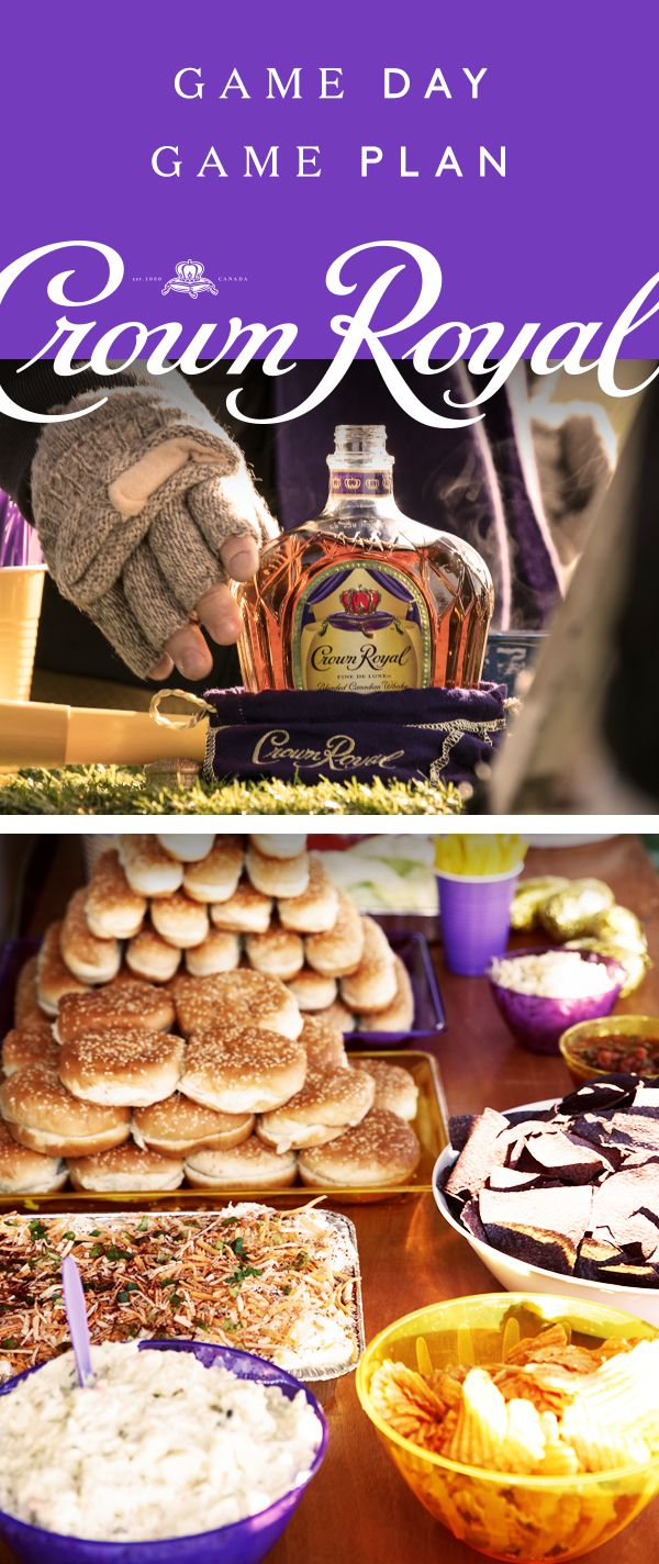 Crown Royal knows just how to host a generous football tailgate–it starts with the spread. Grab the hot dogs, hamburgers, chips, dip, and don't forget the potato salad. The big game calls for a total team effort–friends, family, and anyone wearing your team's colors. Thankfully the drinks will be the least of your worries, because a Crown Royal boilermaker is the game day cocktail everyone will appreciate. Simply pair 1.5 oz Crown Royal Deluxe whisky with your favorite beer and enjoy!