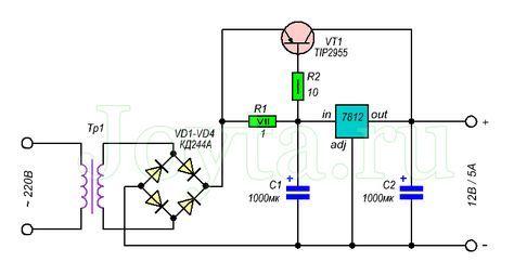 Стабилизатор напряжения 5 ампер схема фото 398