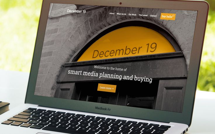 Website design and development for media planners December 19. Responsive website build, with content management integration. See the full site at www.december19.co.uk