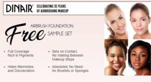 Get a FREE Dinair Airbrush Foundation Sample Set.
