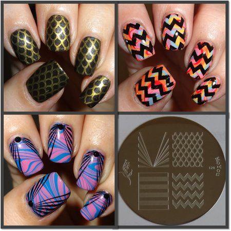 MoYou Nails Plate 128  #nailart - bellashoot.com