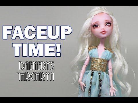 Custom Monster High Doll Repaint And Hair Reroot Wool Doll Hair
