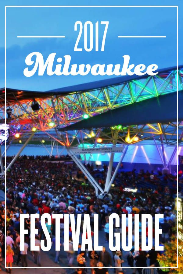 All of the festivals Milwaukee has to offer, in one place. https://www.milwaukeemag.com/2017-milwaukee-festival-guide/