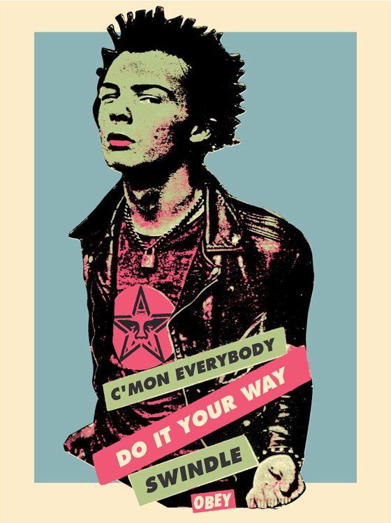 Sid Vicious - poster by Jamie Reid