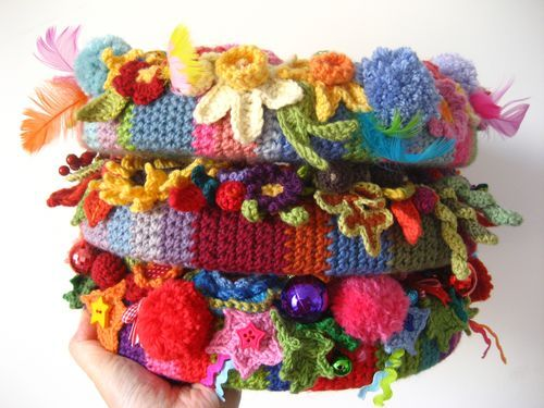 Lucy of Attic24 makes crochet wreaths just about every season and every single one is inspiring!