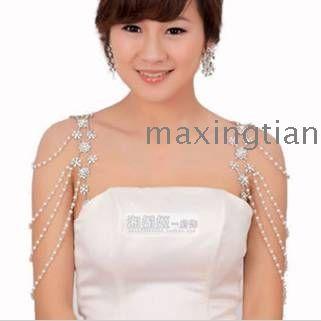 shoulder necklace | Bridal Necklace Chain bride shoulder chain wedding – Necklace Chain ...
