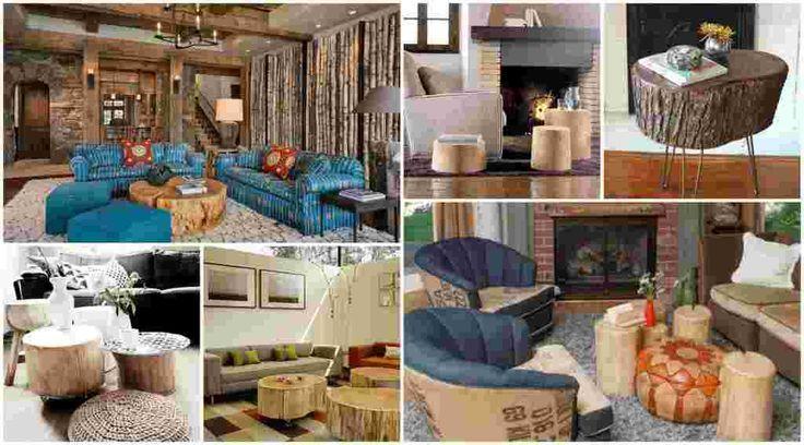 Φέρτε ακατέργαστη ομορφιά στο σπίτι σας με τραπεζάκια από κορμούς δένδρου