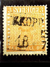 """Treskilling Yellow"", a rare stamp from Sweden, is the most expensive postage stamp in the world at $2.3 Million. #TrovFact"