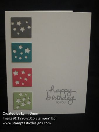 December 2014 Paper Pumpkin ~ Additional project made with the leftover kit materials #stampinup #paperpumpkin #kit
