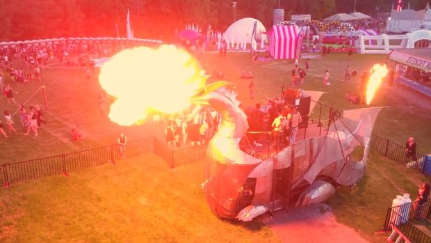 This… http://www.cbc.ca/arts/this-fire-breathing-dragon-is-saying-thank-you-to-canada-before-it-heads-to-burning-man-1.4186496