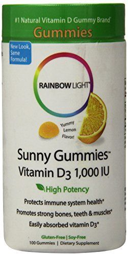 Rainbow Light Vitamin D3, 1000 IU Sunny Gummy, 100-Count //Price: $13.99 & FREE Shipping //     #hashtag1