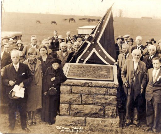 Battle of New Market veterans and local citizens at New Market Battle Monument, New Market VA,