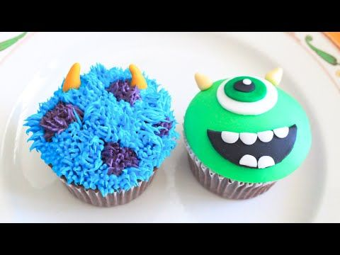 Monsters Inc, Mike and Sully Cupcakes! - YouTube