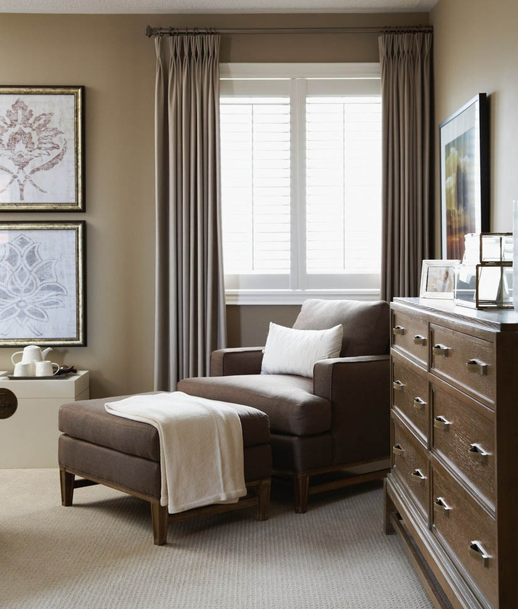curtains with blinds love this chair what a beautiful space to spend time with a good book for my front living room