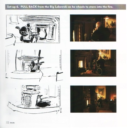 Storyboard from The Big Lebowski.