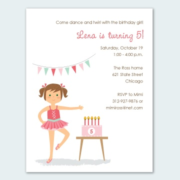 Ballerina party printables personalized to look like your girl