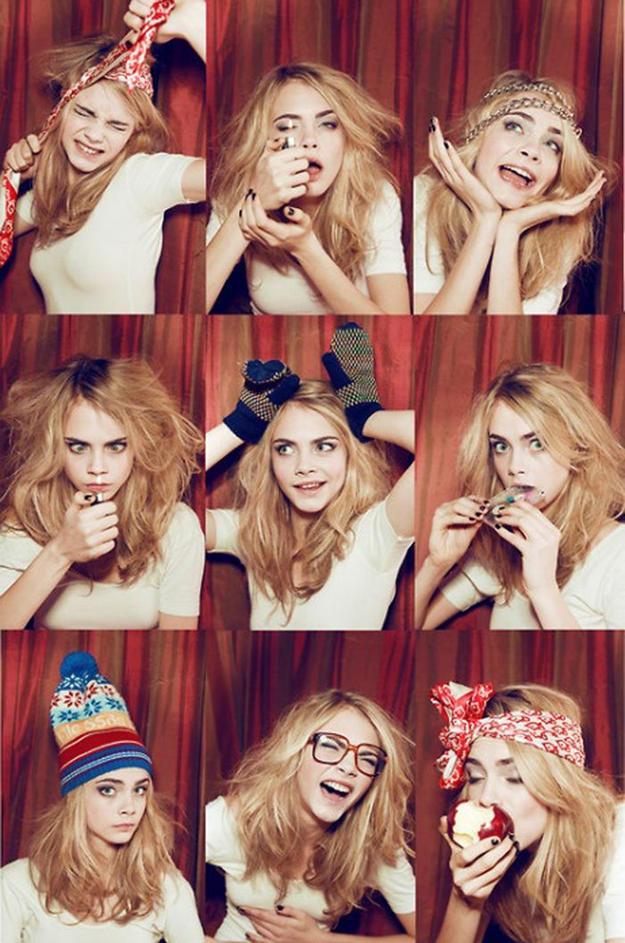 Cara Delevingne - model crush ... everyone should take them selves less seriously! Love #woman #crush, follow @cutephonecases