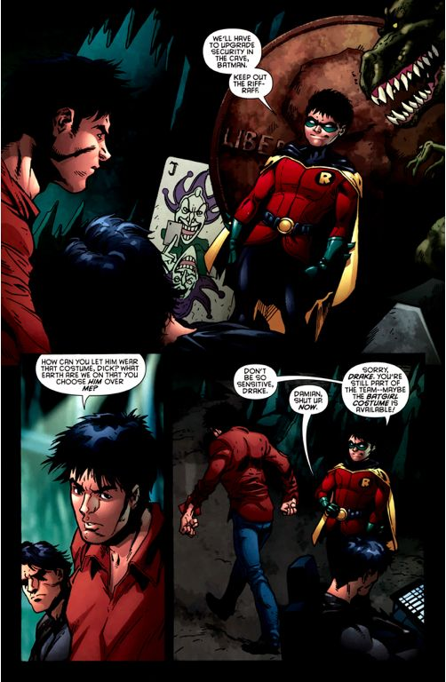 Dick Grayson: He's my responsibility now. You're not my protege, Tim… You're my equal. My closest ally. You'll be okay. From – Red Robin #1