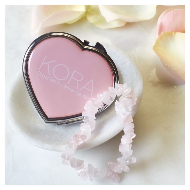 Heartfelt Gifts Just For You  Spend $59.95 or more at koraorganics.com and receive a Rose Quartz Bracelet and a KORA Organics Heart Pocket Mirror using code HEART at the checkout. T&Cs Apply see website for details. Rose Quartz is believed to encourage self-love, self-esteems and forgiveness and is one of Miranda's favourite crystals. xxx #KORAOrganics