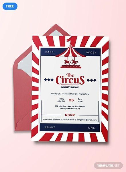 Free Circus Invitation