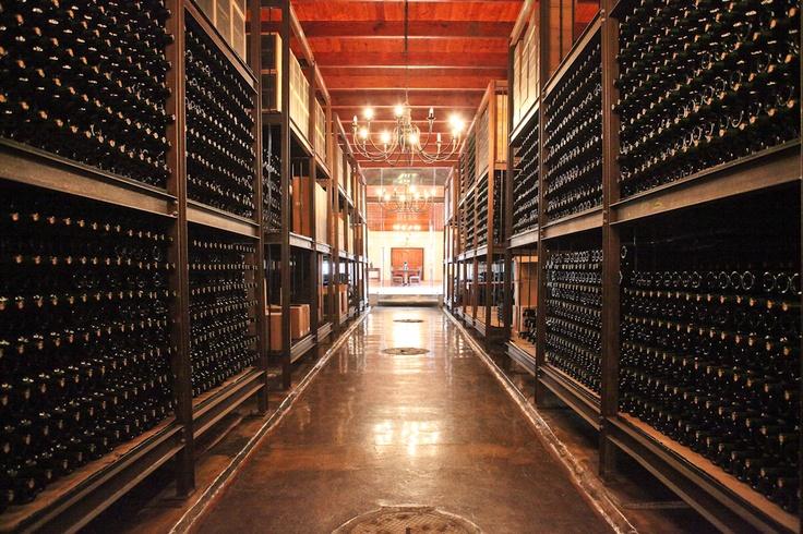 Old wine maturation cellar at Webersburg Estate, Stellenbosch, South Africa