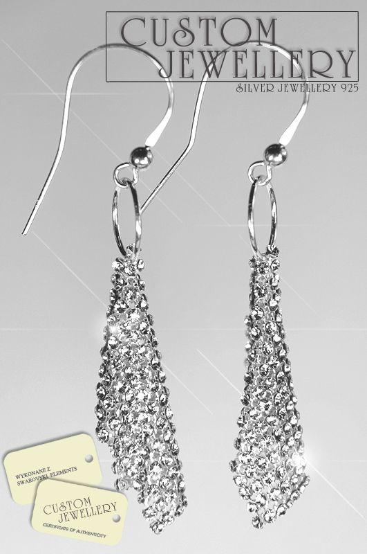 #Kolczyki na #Swarovskielements plus #srebro925 zapraszamy na www.customjewellery.pl