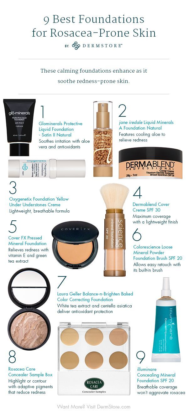 Makeup For Rosacea • 10 Best Foundations For Rosacea in