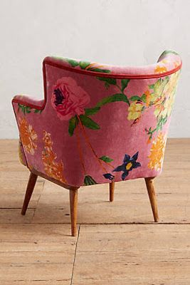 Floral print single chair for any small space, or statement chair for simple living room decor