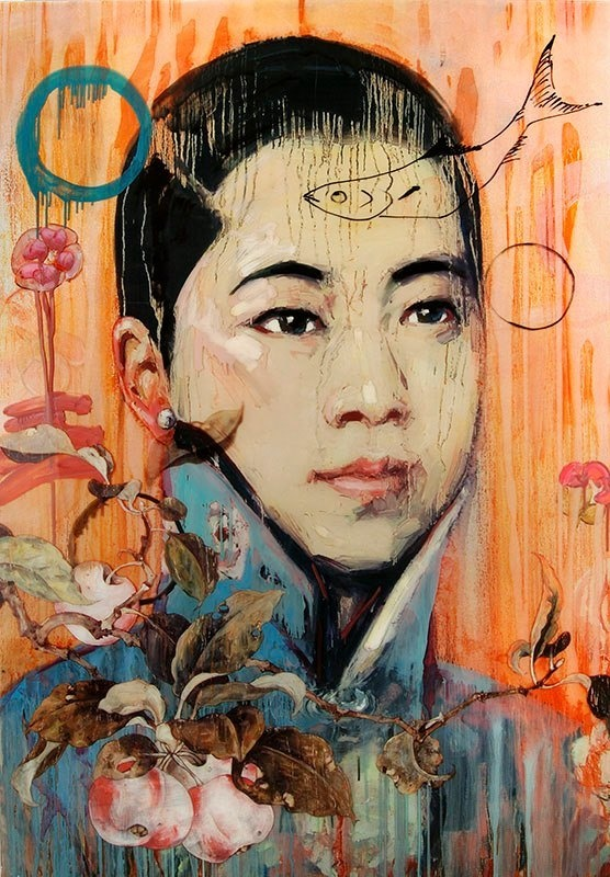 Hung Liu's work takes the socialist realism of Chinese propoganda art and transforms it into images of feminine strength. #art #paintings