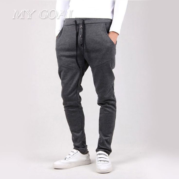 New Men Joggers Casual  Pants Tracksuit Trousers Men Harem Sweatpants Hip Hop Loose Pants Mens Joggers
