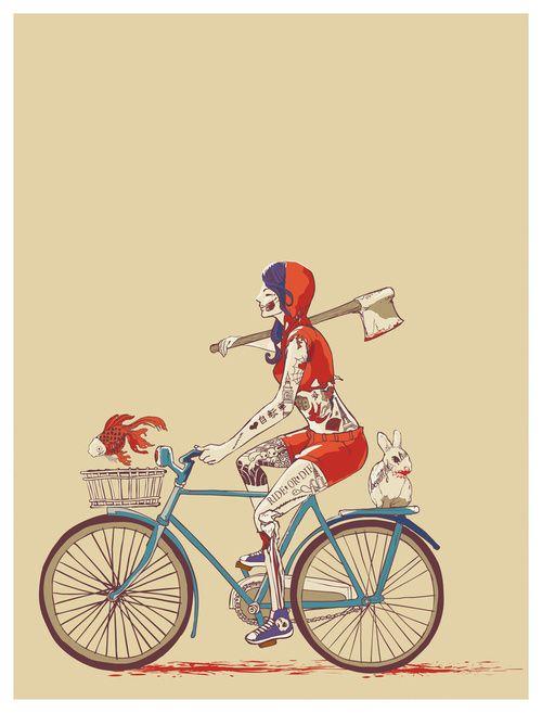 Death Ride, illustration by Hue Bucket