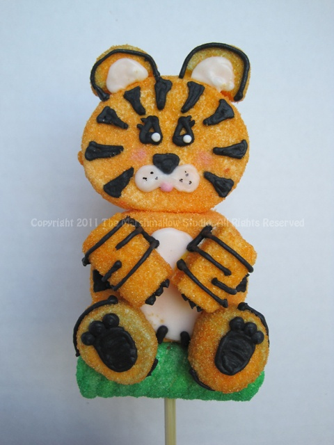 Tiger #marshmallow #pop #favors #jungle #tiger
