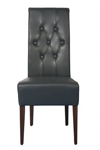 Monte dining chair in black leather