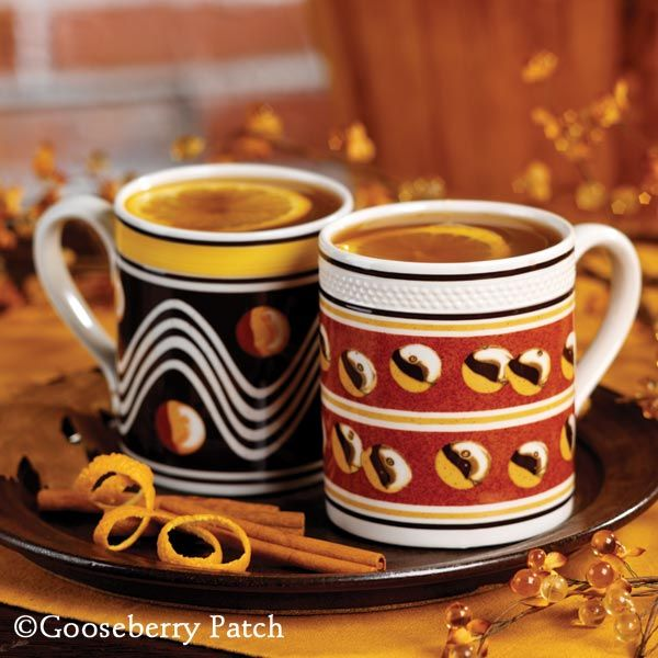 Hot Caramel Apple Cider from 101 Homestyle Favorites Cookbook by Gooseberry Patch. A warming welcome!