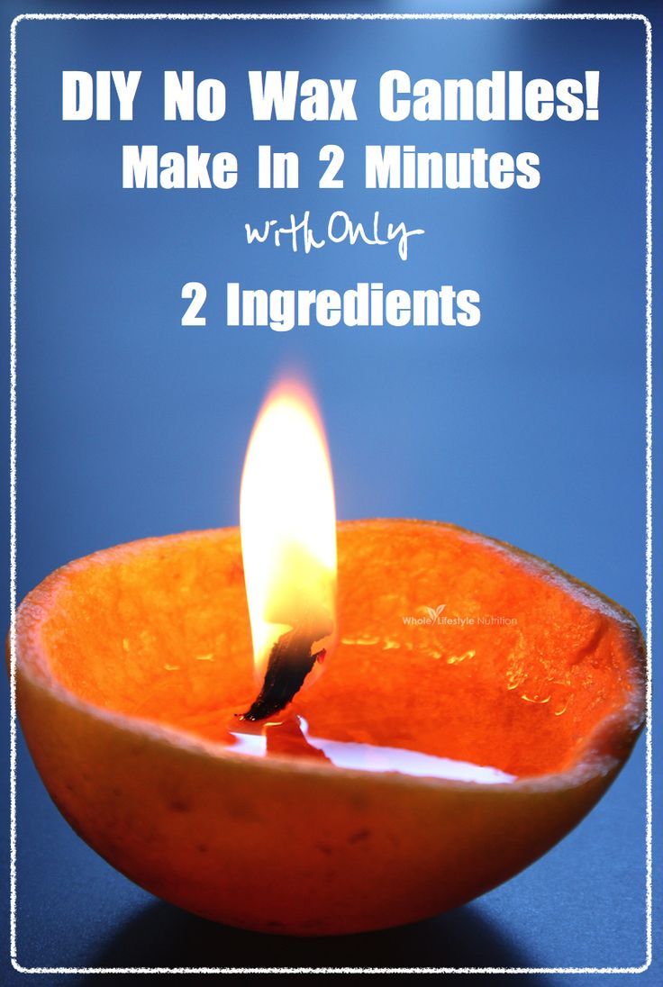 DIY No Wax Candles | WholeLifestyleNutrition.com