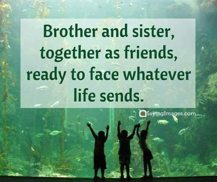 Brother And Sister Are Together As Friends Sibling Quotes Family Quotes Funny Sister Quotes