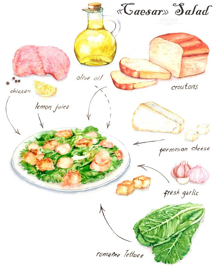 303 best food drawing images on pinterest illustrated recipe salad illustrations on behance forumfinder Gallery