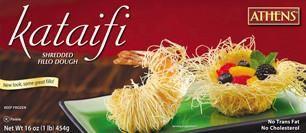 Shredded Fillo (Phyllo) Dough Kataifi, 1lb - Parthenon Foods
