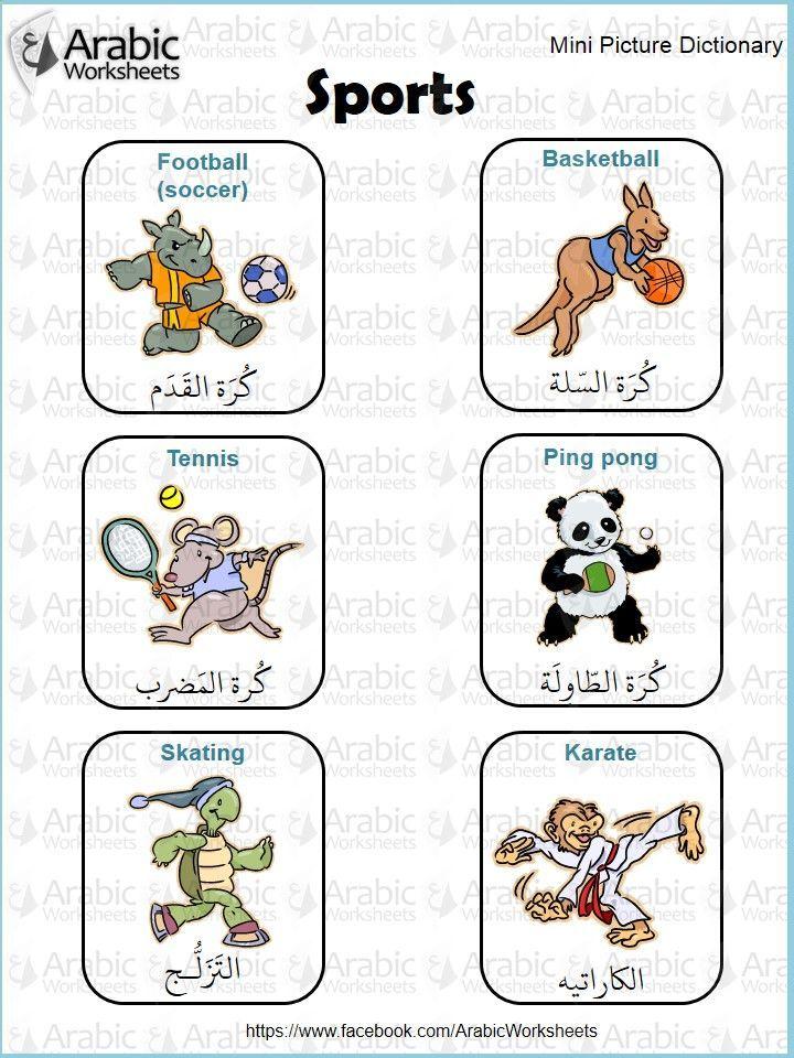 #Sports #vocab in #Arabic——————————————– ———-…