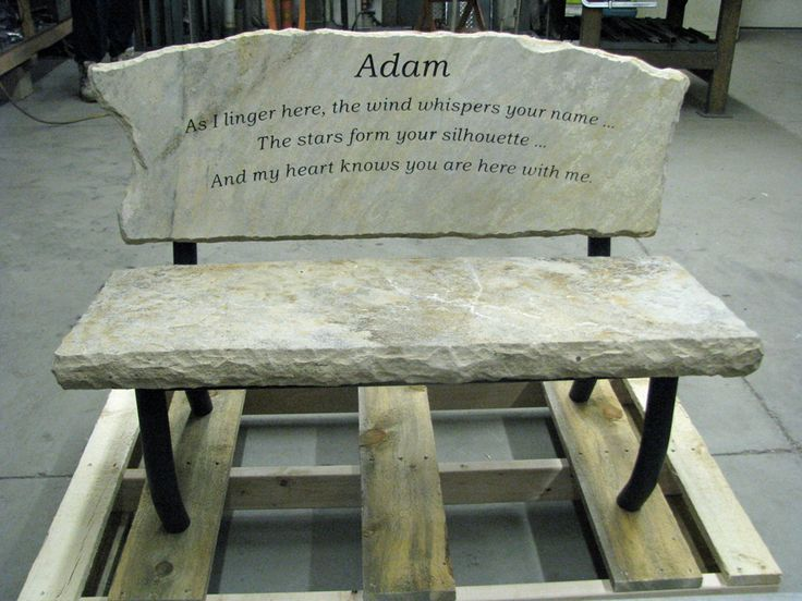 Engraved Memory Bench Custom Made Memory Bench That Will
