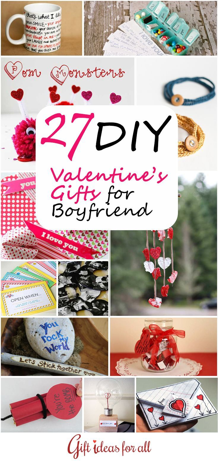 27 Cute Homemade #DIY Valentine��s Gifts for #Boyfriend or #Husband. #gifts #valentinesday #valentinesdaygiftideas